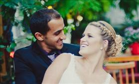 A young Jewish couple at their wedding, not recognized by the Israeli Chief Rabbinate